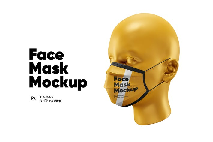 Thumbnail for Face Mask Mockup