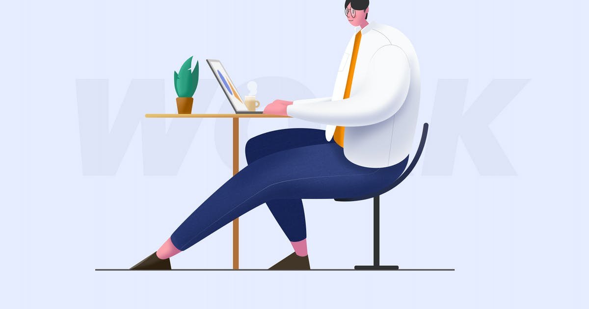 Download working-flat Illustration by htpvvv3