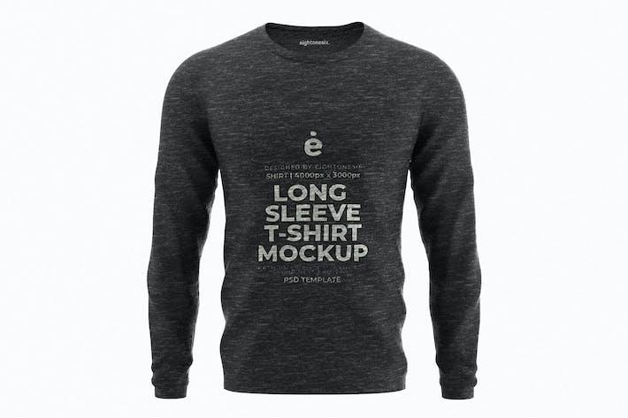 Thumbnail for Langarm-T-Shirt Mockup-Vorlage