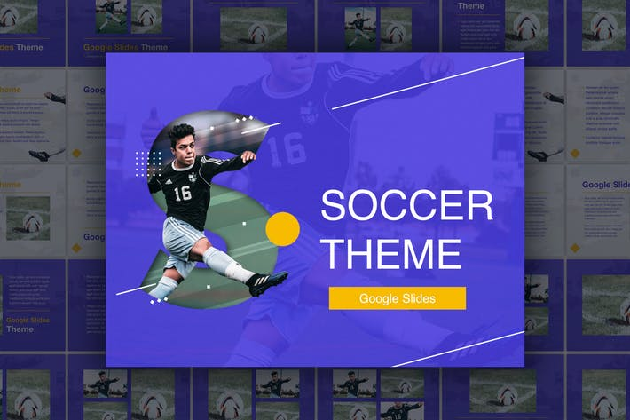 Thumbnail for Soccer Google Slides Theme