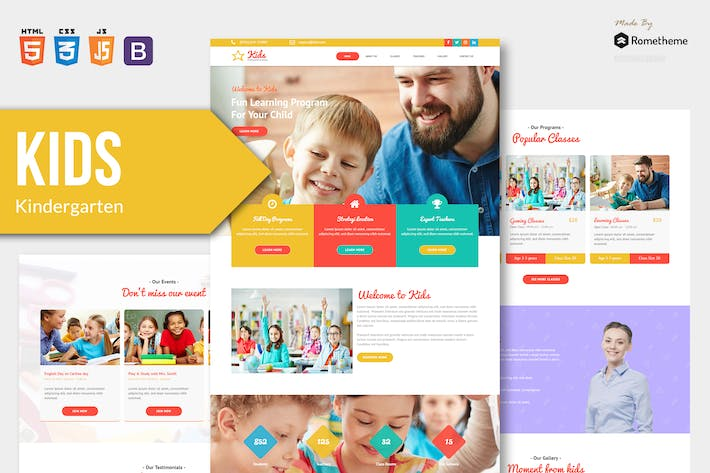 Thumbnail for KIDS - Kindergarten and Child HTML Template RS