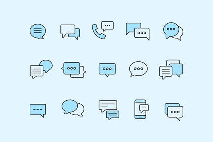 15 Chat Bubble Icons