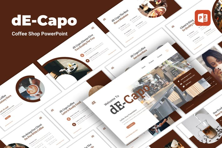 Decapo - Coffee Shop PowerPoint Template