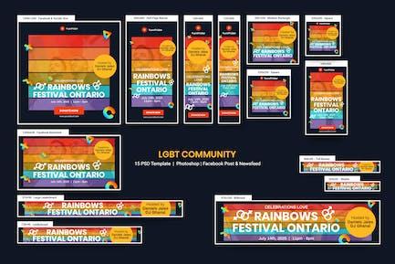 LGBT Community Banners Ad