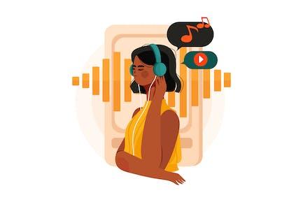 Listen to Podcast Illustration