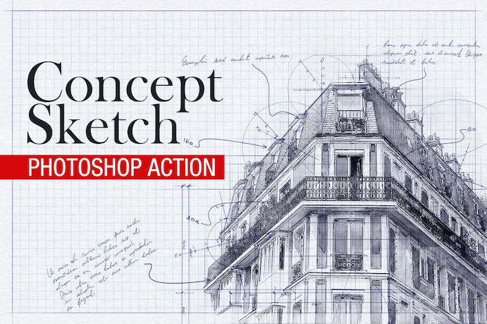 Thumbnail for Concept Sketch - Photoshop Action