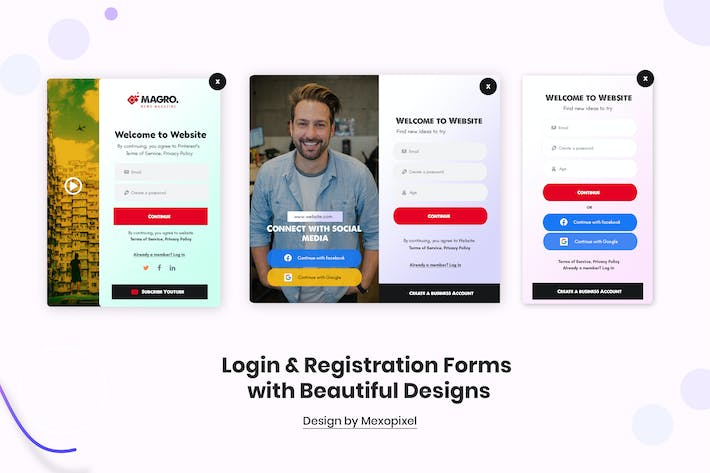 Thumbnail for Login & Registration Popup Forms Designs