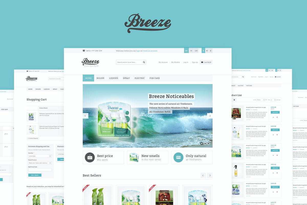 Breeze responsive woocommerce theme by wpway on envato elements fandeluxe Image collections