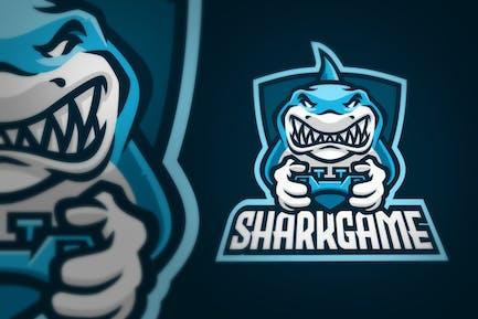 Shark Gaming Joystick Sport Logo