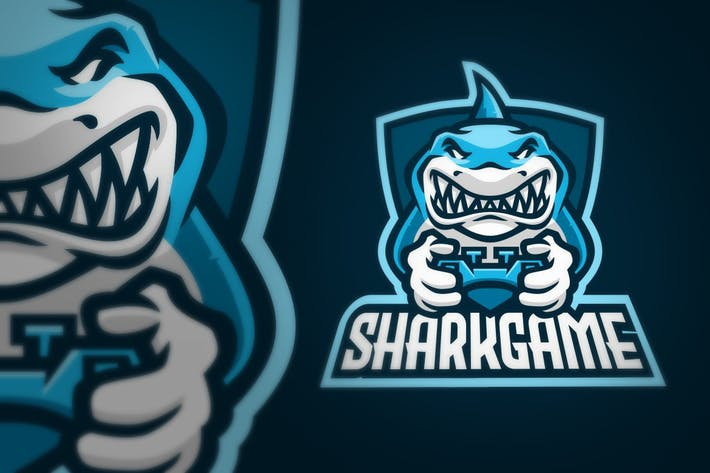 Thumbnail for Shark Gaming Joystick Sport Logo