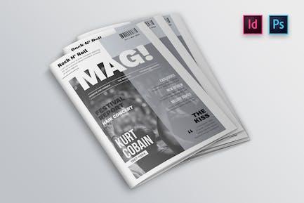 Entertainment Magazin Cover Indesign Vorlage