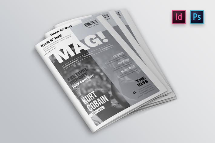 Thumbnail for Entertainment Magazine Cover Indesign Template