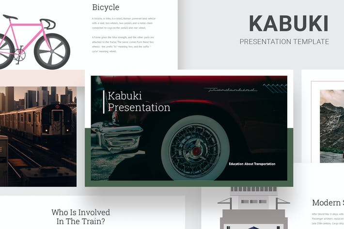 Thumbnail for Kabuki Learning About Transportation Google Slides