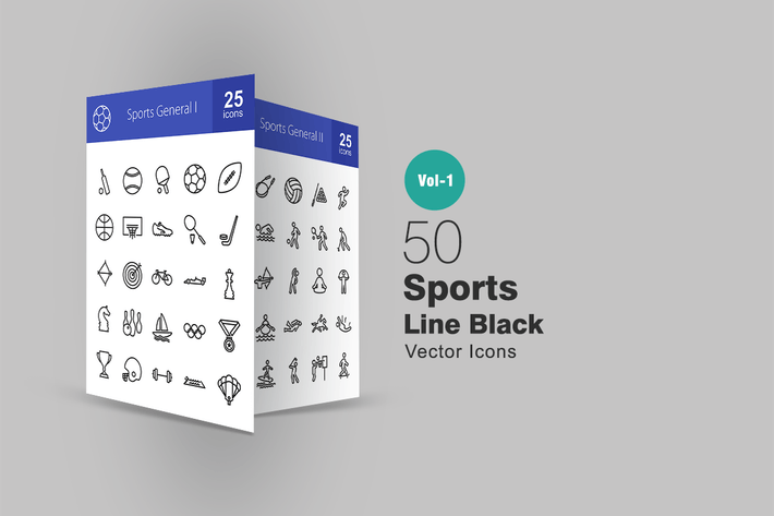 Thumbnail for Sports Line Icons