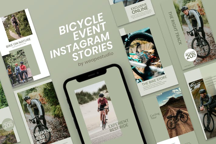 Thumbnail for Bicycle Event Instagram Stories