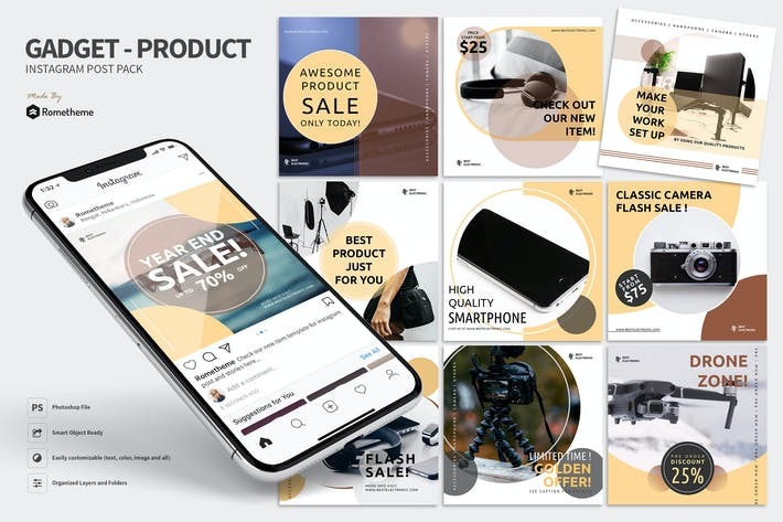 Thumbnail for Gadget - Product Promotion Instagram Post Pack RY