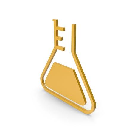 Flask Yellow Icon