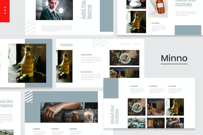 Thumbnail for Minno - Эфирное масло Powerpoint Шаблон