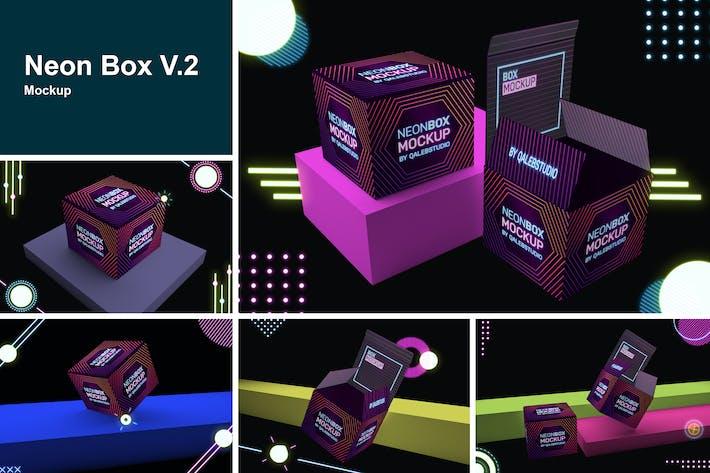 Thumbnail for Neon Box Mockup V.2