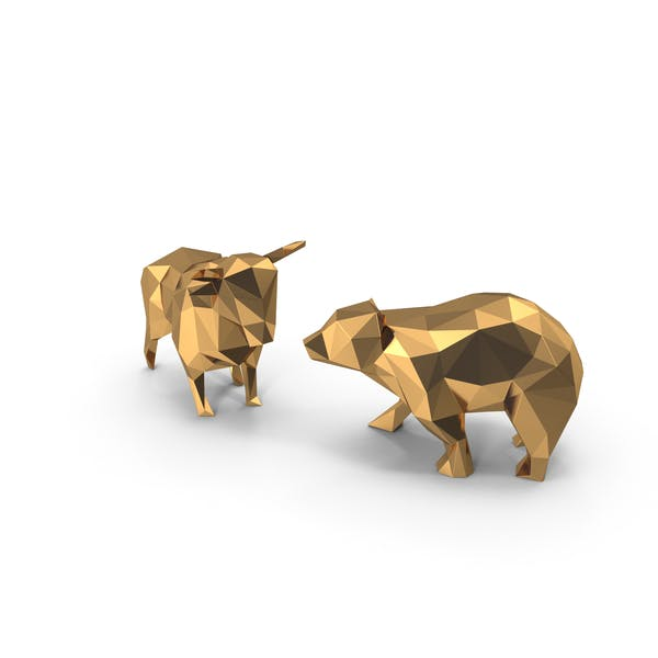 Bull & Bear Low Poly