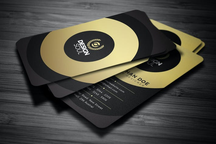 Thumbnail for Gold Creative Business Card