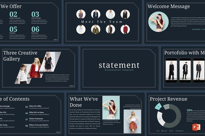 Thumbnail for Statement - Powerpoint Template