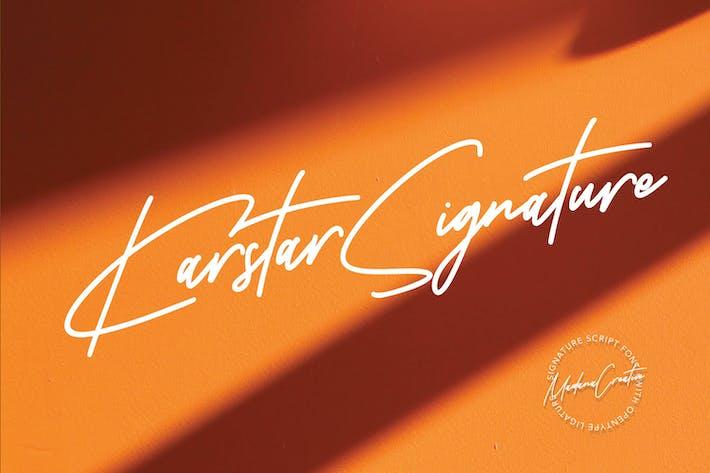 Thumbnail for Karstar Signature Font