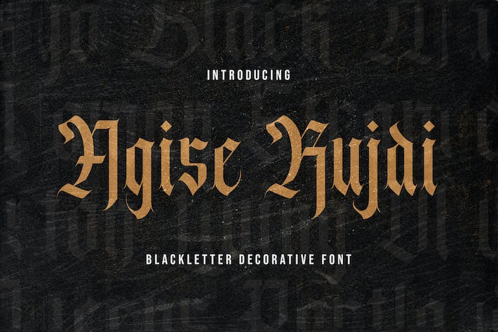 Thumbnail for Agise Rujdi - Blackletter Font