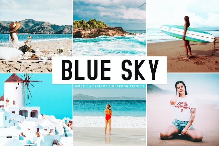 Thumbnail for Blue Sky Mobile & Desktop Lightroom Presets