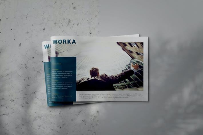 Thumbnail for WORKA - Indesign Brochure Lookbook Template