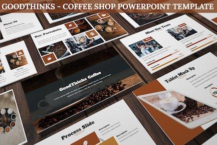 GoodThinks - Кофейня Powerpoint Шаблон