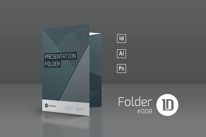 Thumbnail for Presentation Folder Template 008
