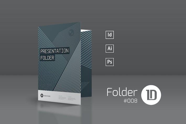 Thumbnail for Presentation Folder Template 008
