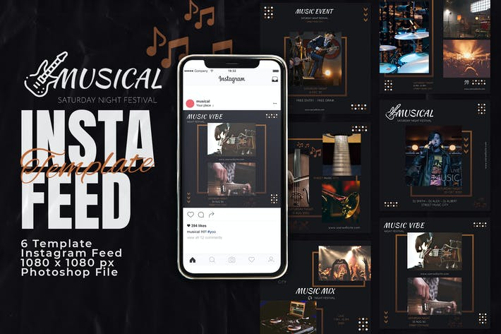 Thumbnail for Musical Event Concert Instagram Feed Post Template