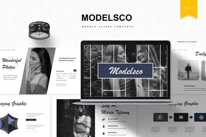 Thumbnail for Modelsco | Google Slides Template