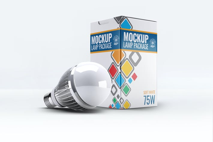 Thumbnail for Led Lamp Package Box Mock-Up