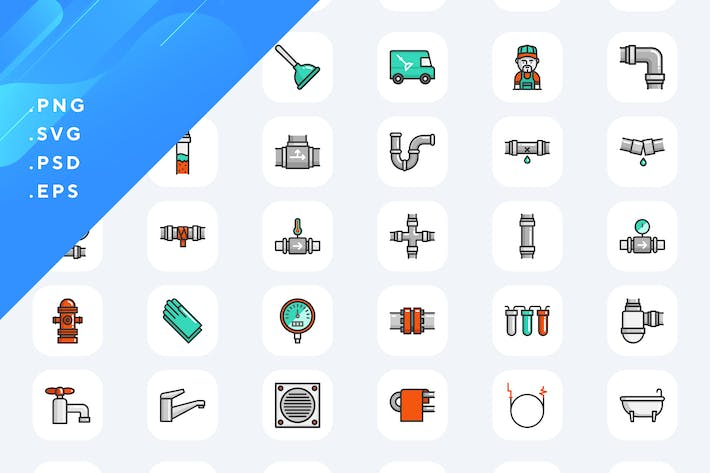 Thumbnail for 50 Plumbing Icons