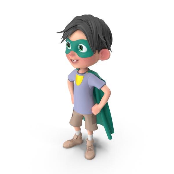 Cartoon Boy Jack Superhero