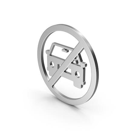 Symbol No Car Silver