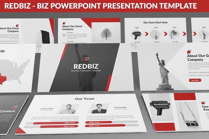 Thumbnail for Redbiz - Biz Powerpoint Presentation Template