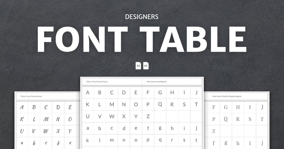 Download Designers Font Table by WebDonut