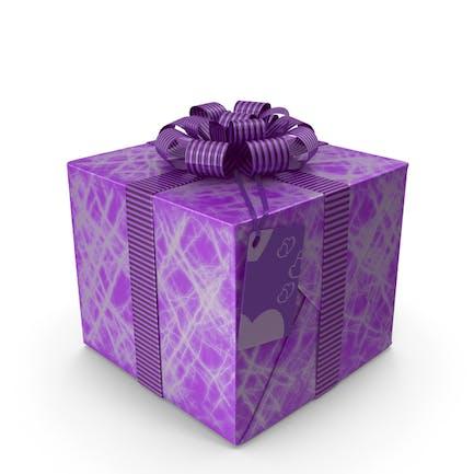 Etikett mit Geschenkbox, Viol