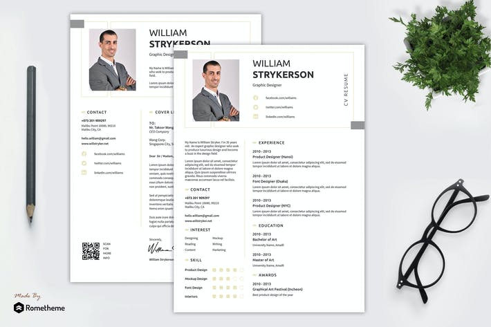 Thumbnail for William - Clean Minimalist Resume Template RY