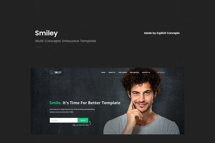 Smiley - Multi Concepts Unbounce Template