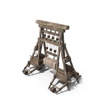 Grúa de madera medieval