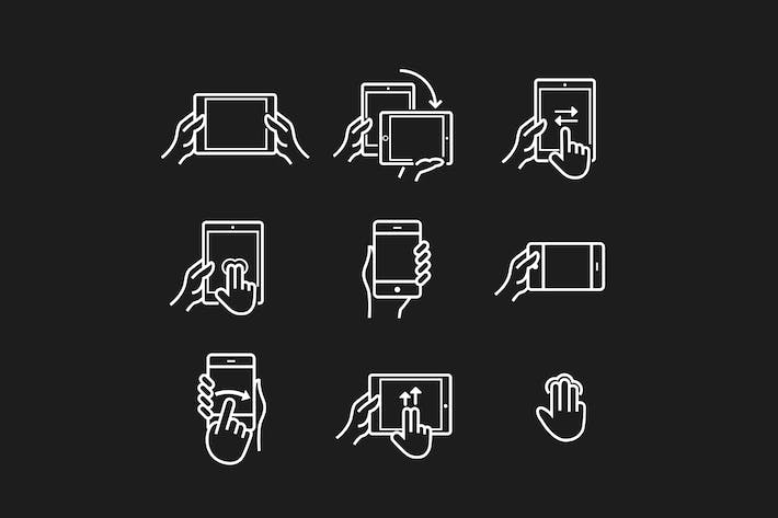 Thumbnail for 15 Device Gesture Icons