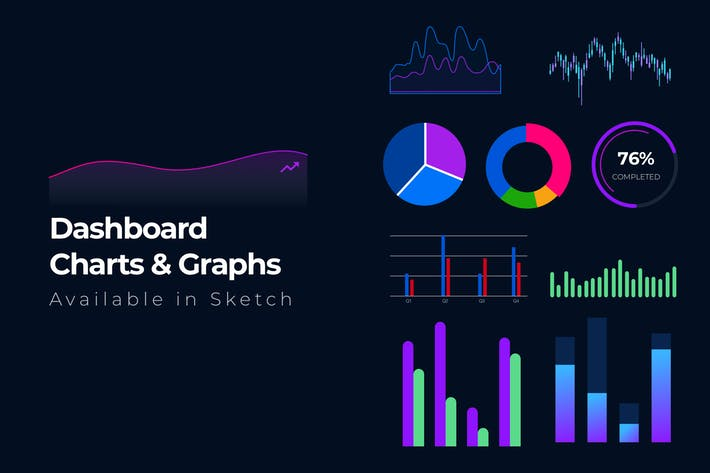 Thumbnail for 15+ Dashboard Charts & Graphs Items