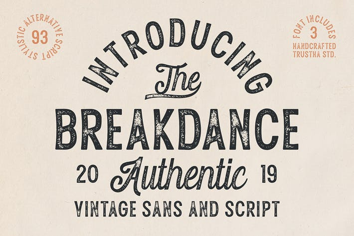 Thumbnail for Breakdance Vintage Font Duo
