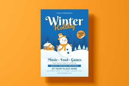 Winter Day Flyer Template