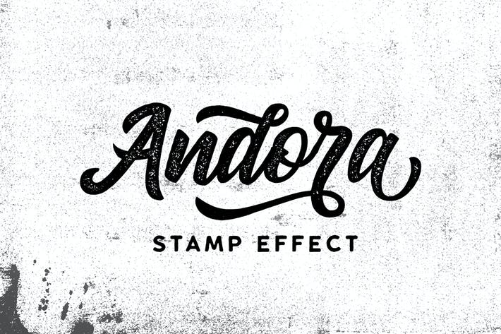 Thumbnail for Andora Typeface Stamp